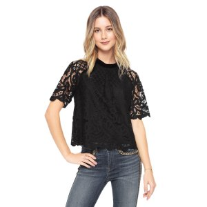 ROYAL LACE AND VELVET MIX TOP