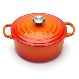 Le Creuset Signature Cast Iron Round Casserole Dish - 24cm - Volcanic Homeware | TheHut.com