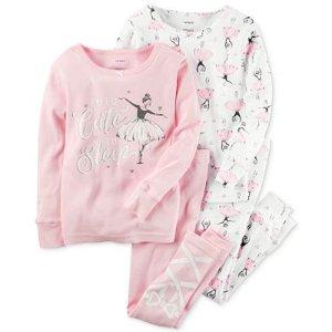 Carter's 4-Pc. Tutu Cute To Sleep Ballerina Pajama Set, Baby Girls (0-24 months) - Carter's - Kids & Baby - Macy's