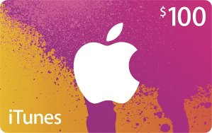 $80 Apple $100 iTunes Gift Card