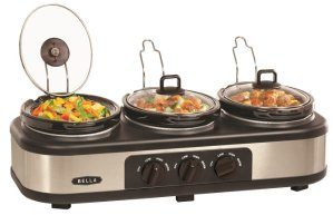 Bella 3 x 1.5-Quart Triple Slow Cooker