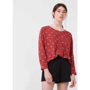 Printed flowy shirt - Woman | MANGO USA
