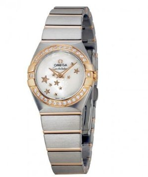 OMEGA Constellation Mother of Pearl Steel and Rose Gold Diamond Ladies Watch 12325246005002