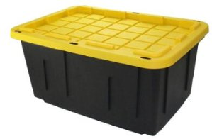 Centrex Plastics LLC Commander 27-Gallon Tote with Standard Snap Lid