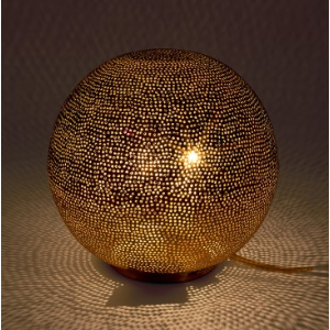 Filisky Ball Table Lamp Silver