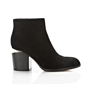 GABI SUEDE BOOTIE WITH RHODIUM | BOOTS | Alexander Wang Official Site