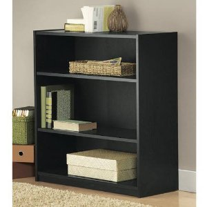 $15.84 Mainstays 3-Shelf Wood Bookcase