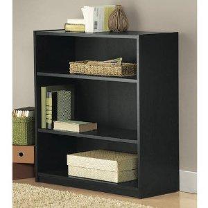 $15.84 Mainstays 3-Shelf Wood Bookcase