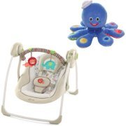 Comfort & Harmony Portable Swing - Cozy Kingdom with BONUS Octoplush Toy