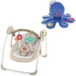 Comfort & Harmony Portable Swing - Cozy Kingdom with BONUS Octoplush Toy