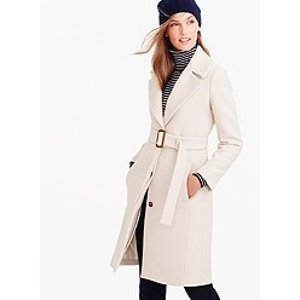 DOUBLE-CLOTH BELTED TRENCH COAT