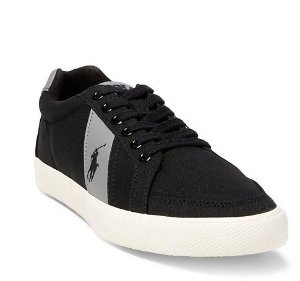 $19.99(reg.$59.00) Polo Ralph Lauren Men's Hugh Canvas Sneakers Black