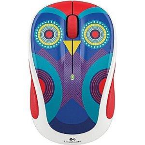 Logitech M325C Wireless Optical Mouse, Ambidextrous, Owl (910-004440)   Staples®