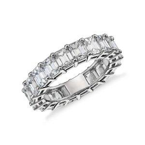 Emerald Cut Diamond Eternity Ring in Platinum (6 ct. tw.)