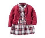 Baby Girl 2-Piece Flannel Dress & Sweater Set | Carters.com