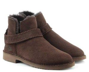 $82.99(原价$150)UGG McKay 咖啡色麂皮毛绒踝靴