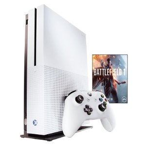 $249.99 500GB Xbox One S Console Battlefied 1 or Minecraft bundle + $40GC