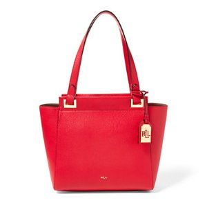 Carlisle Faux-Leather Shopper - Shop All � Women - RalphLauren.com