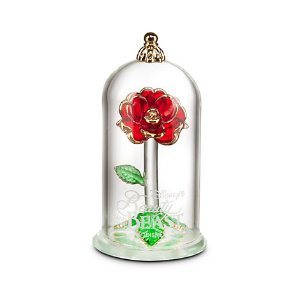 Beauty and the Beast Enchanted Rose Glass Sculpture by Arribas - Small | Disney Store
