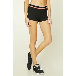 Active Contrast Striped Shorts