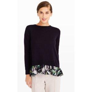 Arlietta Mixed Crew Sweater