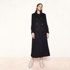 GIGIO Long military-style coat - Coats & Jackets - Maje.com