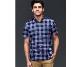 Twill plaid short sleeve standard fit shirt | Gap
