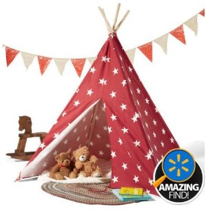 Children's Teepee Tent, Red
