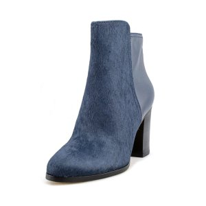 Cole Haan Cole Haan Zandra Bootie Women Pointed Toe Suede Blue Ankle Boot (407630901) | Bluefly
