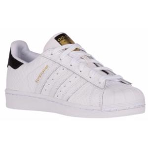 adidas Originals Superstar - Boys' Grade School - Basketball - Shoes - White/White/Black