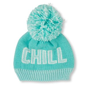 Girls 'Chill Out' Pom Pom Beanie   The Children's Place