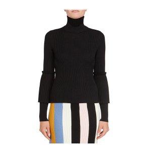 Bell-sleeve turtleneck sweater - Salvatore Ferragamo