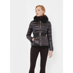 Faux fur collar quilted jacket - Black | Jackets & Coats | Ted Baker