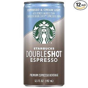 Starbucks Doubleshot, Espresso + Cream Light, 6.5 Ounce, (Pack of 12)