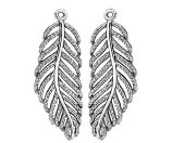 PANDORA Light as a Feather Silver CZ Earring Charms