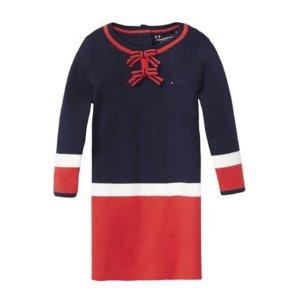 Th Kids Colorblock Sweater Dress
