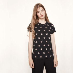 TAMI Printed jersey T-shirt - Tops - Maje.com