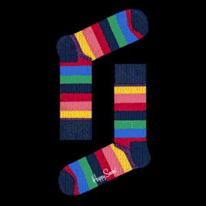 Stripe Socks style in blue, red, green, pink, yellow, purple!