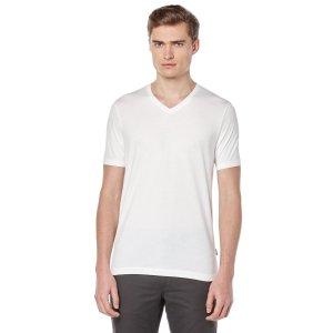 Short Sleeve Pima Cotton V-Neck Shirt