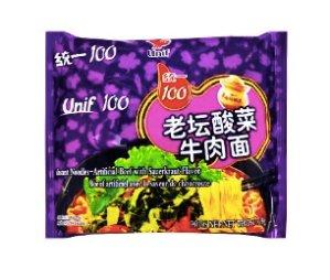 $0.78 UNIF 100 Chinese Sauerkraut Beef Flavor Instant Noodles 119g