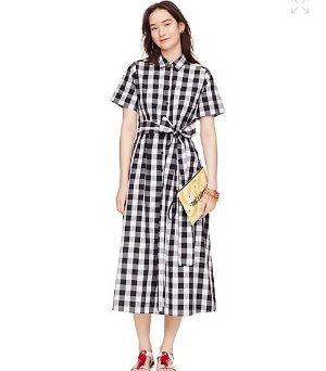 $183.00(reg.$348.00) kate spade gingham shirtdress