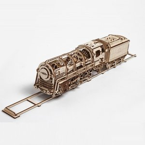 40% Off! Only $59.99! Ugears Steam Locomotive Model Train
