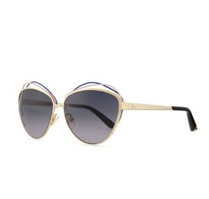 Dior Golden Metal Butterfly Sunglasses with Wire, Blue/Pink @ Bergdorf Goodman