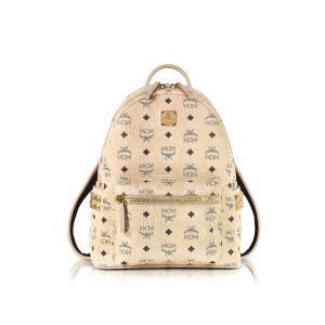 MCM Beige Small Stark Backpack at FORZIERI
