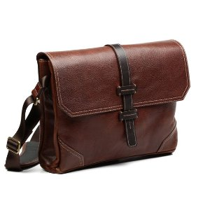 Leather Messenger Bag by Allen Edmonds