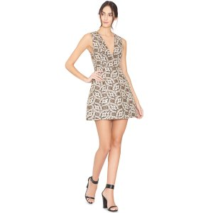 Black/Cream/Gold Patty Lantern Dress