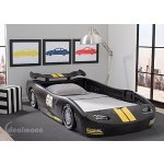 Delta Children Turbo Race Car Twin Bed, 3 Colors
