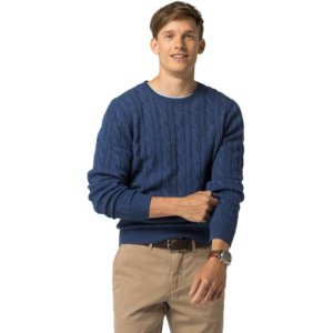 Classic Wool Cable Knit Sweater