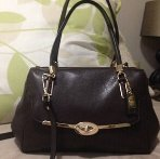 $159.99 COACH Madison Small Leather Madeline East/West Satchel