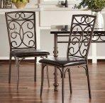 $170.99(原价$91.99) 金属框架仿皮坐垫餐椅4把
